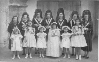 Clavariesas  Virgen del Refugio 1950